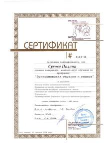 мой сертификат гипнотерапевта